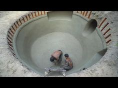 Building The Most Tunnel Water Slide To Swimming Pool Underground House Style: Primitive Technology, How To Build, Underground Swimming Pool, Build Swimming . Underground Swimming Pool, Swimming Pools, 1 Story House, Diving Pool, Pool Companies, Pool Care, Primitive Technology, Pool Service, Underground Homes