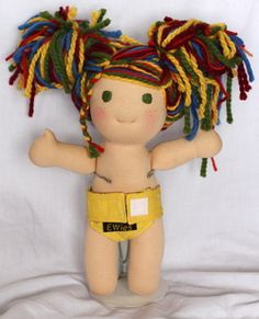 More Waldorf dolls! Love this one's hair!