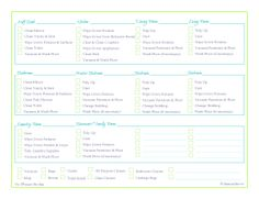 free printable, cleaning schedule, cleaning checklist, home managment binder CHORE CHART FOR TEENAGERS