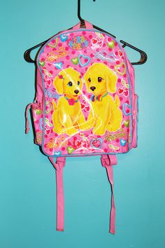 90s Lisa Frank Puppy Love PVC Backpack