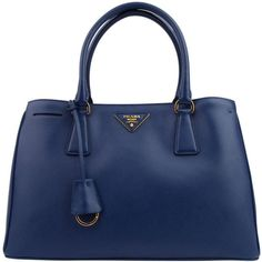 PRADA Small Saffiano Double Handle Tote ($1,465) ❤ liked on Polyvore