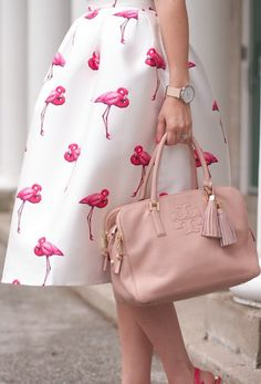 such a cute flamingo skirt