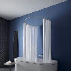 clevershower duschvorhang halterung albert bild 4. Black Bedroom Furniture Sets. Home Design Ideas