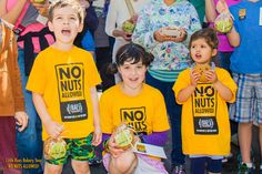 Get our No Nuts Allowed! T-shirts for kids. Got a little one with a peanut/tree-nut allergy? This shirt will help keep them safe in big gatherings. And they're way cool.