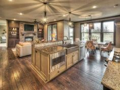 Open floor plan..#beautiful