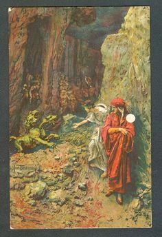 D. Mastroianni, postcard (No. 10), color, Inferno VI