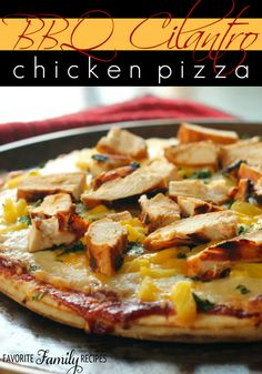 We used to order a pizza like this at a local place when we lived in California. Our own version and it is every bit as good! #bbqchickenpizza #bbqpizza
