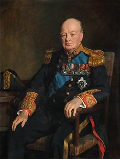 Sir Winston Churchill Lord Warden of the Cinque Ports. Portrait by John Leigh-Pemberton. Oil on canvas, 127 x cm Collection: National Maritime Museum Winston Churchill, Churchill Quotes, Military Art, Military History, Military Uniforms, Celebridades Fashion, Art Uk, British Army, British Royals