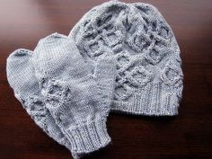 Ravelry: Willowherb Hat and Mittens pattern by Marnie MacLean 450 yards worsted for the set