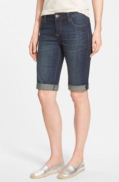 Maybe I'd try shorts like this? I really prefer shorts that aren't too short! Miki  KUT from the Kloth Cuffed Bermuda Shorts