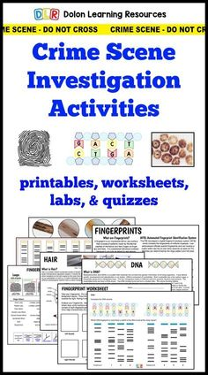 forensic science crime scene investigation activities, fingerprints, DNA, hair, vehicles.