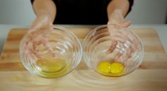 There are two options for separating #eggs; the clean way or the messy way. Find out how with Chef Nicole's four steps to perfectly separated eggs.