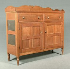 Southern walnut huntboard ca 1800 with five drawers