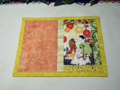 Quilted Mug Rug   Candle Mat  Snack Mat  Moment by PattiesPieces