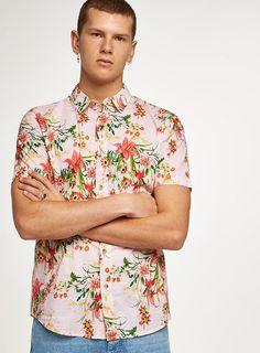 df22ab4b507a1 Pink Hawaiian Shirt - Men s Shirts - Clothing - TOPMAN EUROPE