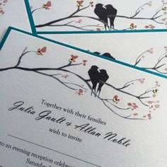 Flat Card Handmade Wedding Invitation