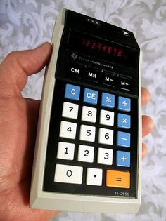 $33.00 Vtg 1974 TEXAS INSTRUMENTS TI-2550 Memory Electronic Calculator w/ Case Manual AC Adapter