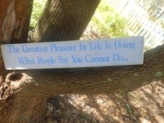 Doing What People Say You Cannot Rustic Sign by AngelPaws6 on Etsy