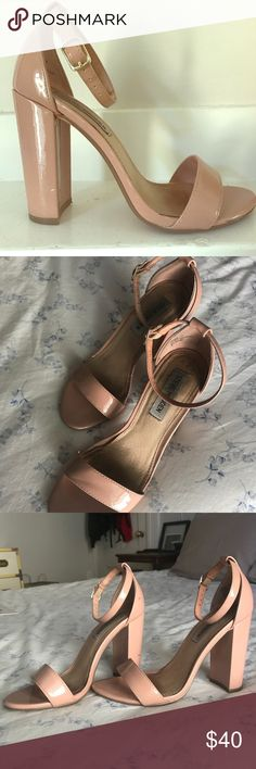 Nude Steve Madden Platform Heel Timeless heel in a nude blush patent leather. Perfect for any occasion most recently worn to my sisters wedding but can be dressed up or down. OFFERS WELCOME 🙌🏼 Steve Madden Shoes Heels