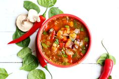 Spicy Black Bean Hearty Rainbow Vegetable Soup - Grains and Legumes, Recipes, Soups - Divine Healthy Food