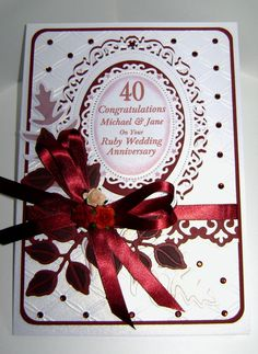 Ruby Wedding Gift Ideas For Husband : 40th ruby anniversary more wedding s anniversaries cards cards ideas ...