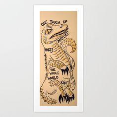 Nature Gator Art Print by JessWatson