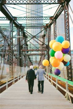 "Couple Married 61 Years Ago Takes ""Up"" Inspired Anniversary Photos - My Modern Metropolis"