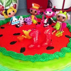 LaLa Loopsy Birthday Cake! Cute idea to put the little dolls on the cake