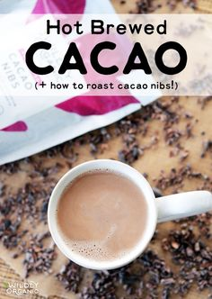 If you're avoiding coffee because of caffeine or other health issues, you you'll love Hot Brewed Cacao -- a great alternative for those trying to break the coffee habit or who simply want a healthy hot beverage option. Learn how to roast cacao nibs yourse Sugar Free Cookies, Coconut Cookies, Yummy Drinks, Healthy Drinks, Detox Drinks, Healthy Foods, Healthy Eating, Healthy Recipes, Cocao Nibs