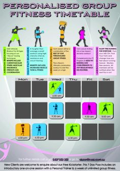 Group Fitness Timetable Group Fitness Classes, Fitness Tips For Women, Workout For Beginners, Fun Workouts, Lose Weight, Abs, Exercise, Ejercicio, Crunches