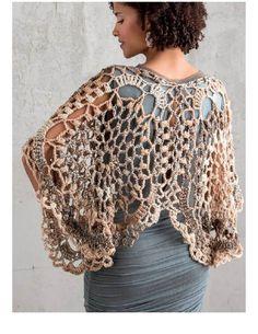 Capa-Torera Mariposa Crochet Patron - Patrones Crochet