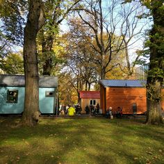 tiny house on Portland's Park Blocks during Build Small, Live Large Summit