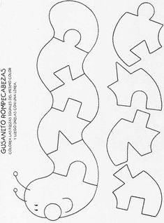 Puzzles - make out of felt - use several of the coloring book pages I have, and just a blank white background. Print image and store them in ziplolcs sewn on the opposite page.                                                                                                                                                      Más