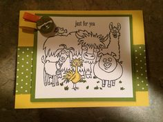 Created by Amy Pieters using Stampin Up! From The Herd Stamp Set.
