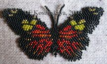 Butterfly Heliconius Doris Pattern by Katherina Kostinsky at Bead-Patterns.com