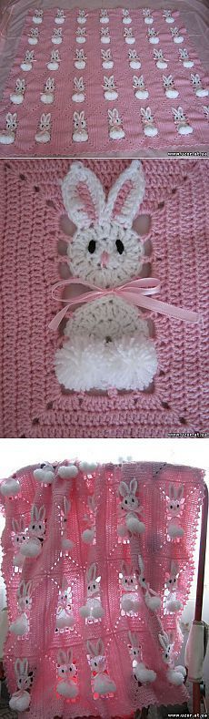 Gorgeous crochet pattern for this floral blanket. Pattern is for baby sized blanket, but this could be made in any size. Crochet Motifs, Crochet Afghans, Crochet Squares, Crochet Blanket Patterns, Baby Blanket Crochet, Crochet Stitches, Crochet Blankets, Baby Blankets, Easter Crochet