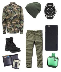 """Army outfit 💪"" by myacalloway on Polyvore featuring Valentino, Abercrombie & Fitch, Timberland, Gucci, The North Face, Incase, Royce Leather, men's fashion and menswear"