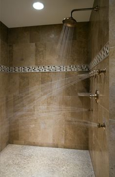 A girl could only dream of having a wonderful shower like that.