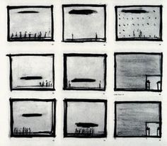 """Storyboard for """"Einstein on the Beach"""" - Robert Wilson and Phil Glass"""