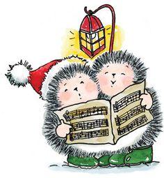 Penny Black Christmas Hedgehog Stamp Joyous Hymn in Crafts, Rubber Stamping, Stamps Black Christmas, Christmas Rock, Penny Black Karten, Penny Black Cards, Hedgehog Art, Cute Hedgehog, Christmas Drawing, Christmas Paintings, Hedgehog Birthday