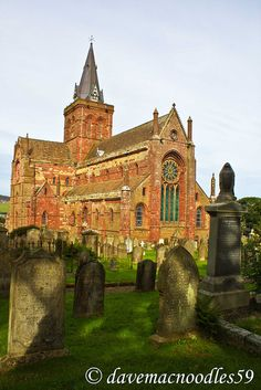 St. Magnus Cathedral in Kirkwall on Orkney