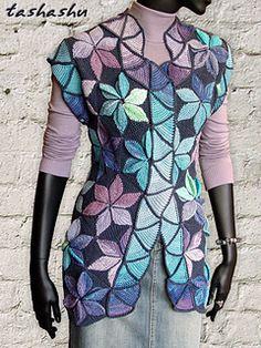 Ravelry: Кnitted waistcoat Mosaic. pattern by Svetlana Gordon