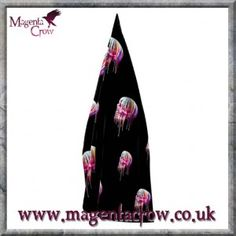 Gothic Fantasy Scarf Colourful Dripping Skull. A beautifully printed polyester scarf featuring a human skull that has a multitude of bright colours dripping from it in a streak effect. Colourful darkness at its best! With rich colours this beautiful and unique Gothic Fantasy scarf looks amazing with any outfit. A quality fashion accessory with artwork by one of the UKs favourite Gothic Fantasy artists and printed using the highest quality ink and materials.
