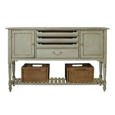 Perfect for a large walk-in closet to store jewelry and lingerie.  Those center pull-out drawers can be lined with felt for necklace and bracelet storage. The bottom shelf can hold bags or boots. Gorgeous!
