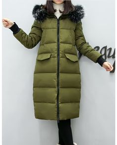 73.66$  Watch now - http://ali0gj.worldwells.pw/go.php?t=32768541926 - Maternity Women Winter Down Coat Jacket Large Medium Length Parka Fur Collar Pregnant Thick Hooded Coats Plus Size L-2XL E629