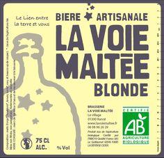 Cerveja La Voie Maltée Blonde, estilo Belgian Blond Ale, produzida por La Voie Maltée, França. 5% ABV de álcool.