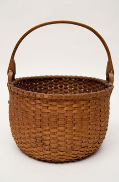 "Antique 7 1/2"" Shaker Swing-Handled Berry Basket"