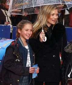 Kate Moss and Lila-Grace Moss