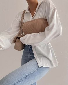 Looks Street Style, Looks Style, Winter Fashion Outfits, Modest Fashion, Skater Fashion, Cute Casual Outfits, Stylish Outfits, White Shirt Outfits, Stylish Girl