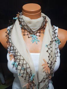 TurkishScarf #Oyascarf #Squarescarf #wrapGreenScarf #Greyscarf #CreamScarf #NeedleworkScarf #TattingScarf #SidedScarf#HeadScarf#love #art#style#fashion#scarf#scarves#shawl